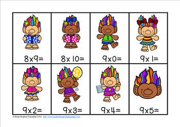 Trolls Multiplication Race