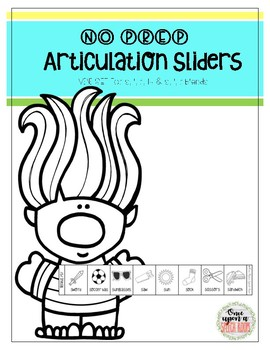 #SLPBTS NO PREP Articulation Sliders MINI SET: Trolls