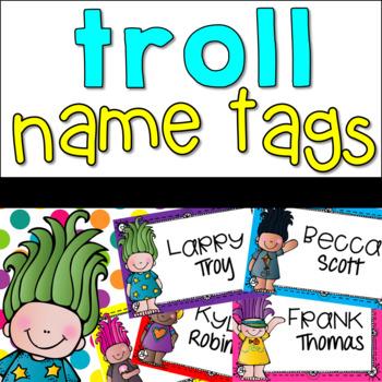 Trolls Name Tags {Printable}