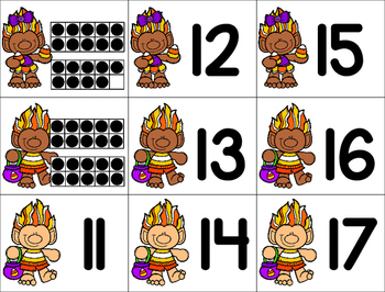 Trolls See and Stamp Teen Numbers
