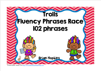 Trolls Sight Word Fluency Phrases Race