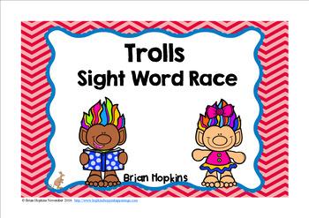Trolls Sight Word Race