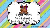 Trolls Sight Word Worksheets Growing Bundle- Read, Write,
