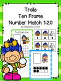 Trolls Ten Frame Number Match 1-20
