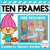 Trolls Ten Frames FREE!
