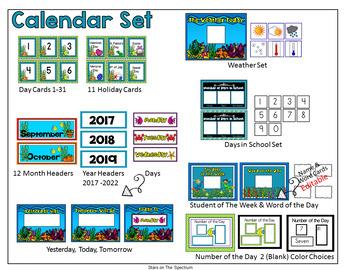 Trolls Theme Classroom Decor - Calendar Set