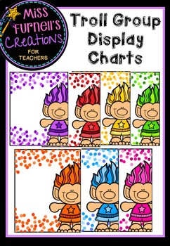 Trolls Themed Group display charts