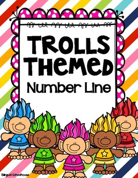 Trolls Themed Number Line