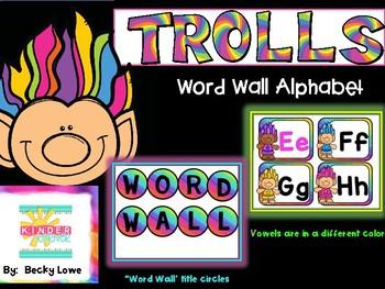Trolls Word Wall Alphabet