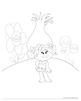 Trolls coloring page