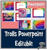 Trolls presentation - EDITABLE Presentation template with Trolls theme