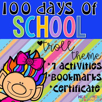 Trolls themed 100th day of School workbook; 100 days smarter