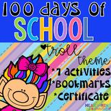 100th Day of School Trolls Theme Workbook