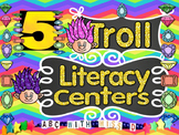 Trolls-themed Literacy Centers- Sight Word and Word Family Games and Worksheets