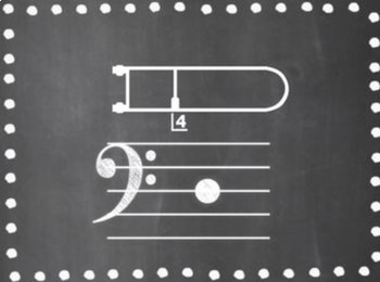 Trombone Position Set {Chalkboard-Themed}