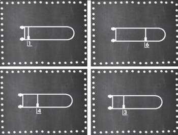 Trombone Position Set {Chalkboard-Themed}