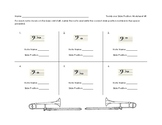 Trombone Slide Position Worksheet 2 for Band Beginners