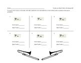Trombone Slide Position Worksheet for Band Beginners