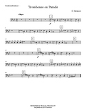 Trombones on Parade – Very Easy Beginning Band arrangement – Very Flexible