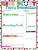 Troop Newsletter Template New Style with Image Girl Scouts