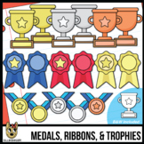 Trophies, Ribbons, & Medals | Awards Clip Art | Add your own text!
