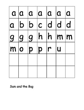 Trophies Sam and the Bag fluency, phonics and spelling activities pack