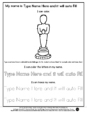 Trophy - Name Tracing & Coloring Editable Sheet - #60CentF