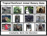 Tropic Rainforest Animal Memory Game