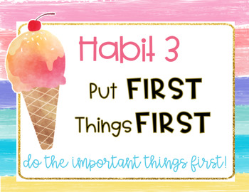 Tropical 7 & 8 Habits Posters