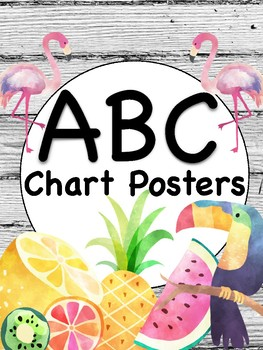 Tropical ABC Chart Posters