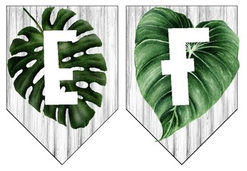 Tropical Alphabet Banner