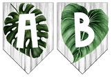 Tropical Alphabet Banner