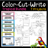 Tropical Animals Art & Writing Projects - Bundle - Flaming