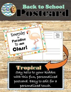 Tropical Back-to-School Postcard