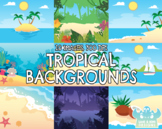 Tropical Backgrounds (Lime and Kiwi Designs)