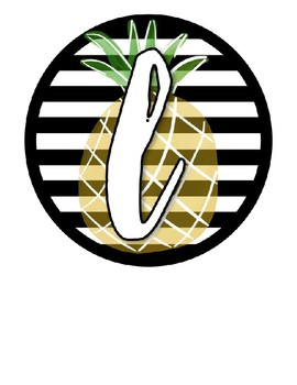 Tropical Banner--Editable, Flamingo, Black and White