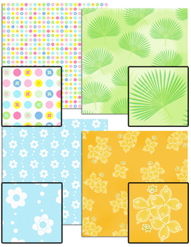 Tropical Beach Backgrounds / Papers -  Commercial Use Okay
