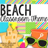 Tropical Beach Theme Classroom Packet