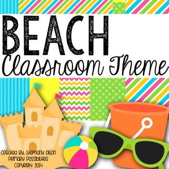 Tropical Beach Theme Classroom Packet