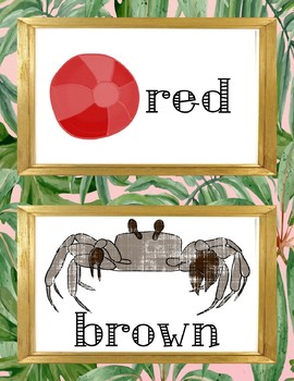 Tropical/Beach color posters