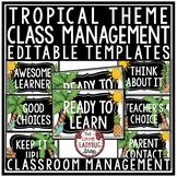 Tropical Theme Behavior Chart, Class Management Strategies & Classroom Jobs
