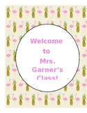 Tropical Binder Cover/Sign