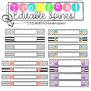 Tropical Binder Covers