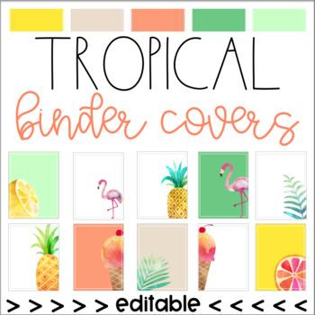 Tropical Binder Covers (Editable)