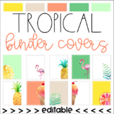 Tropical Binder Covers (Editable)