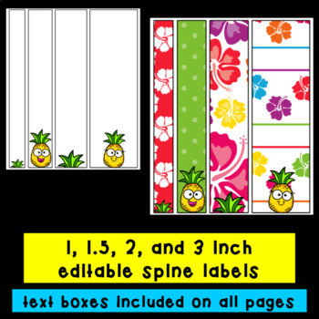 Tropical/Hawaiian Binder Covers- Editable