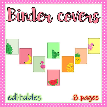 Tropical Binder Covers - Editables