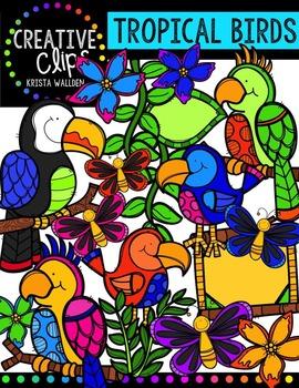 Tropical Birds {Creative Clips Digital Clipart}