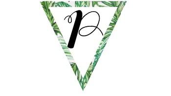 Tropical Birthday Banner