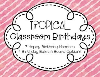 Tropical Birthday Chart
